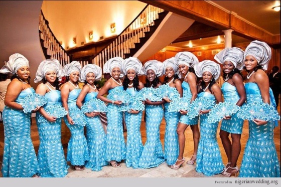 Blue-Gray-Strapless-Gowns-Aso-Ebi-Family-Cloth-Pinterest