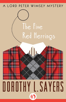 The Five Red Herrings Book Cover - Dorothy Sayers