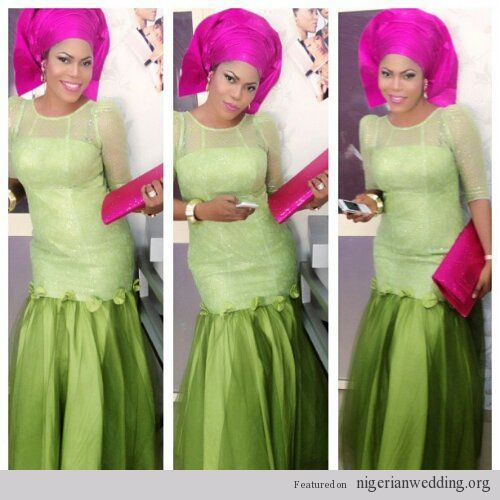 10 Beautiful Aso Ebi Styles To Rock To Weddings Before The Year Ends Sharon Abimbola Salu
