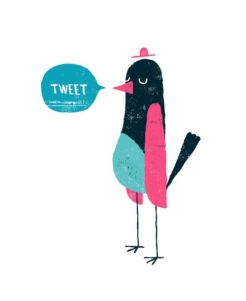 Tweet-Twitter-Bird-Pink-Blue