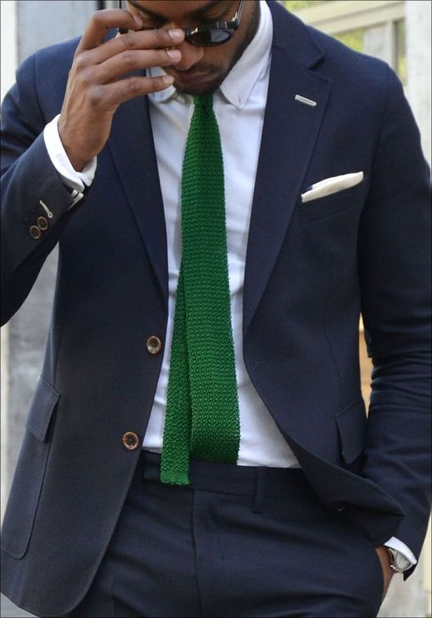 green-tie-black-african-man